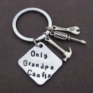 Grandpa Gift kehcain,Gifts For Dad,Only Grandpa Can fix keychain,Dad's Keychain