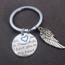 God has you in his hands I have you in my heart,Angel Wing Bereavement KeyChain,