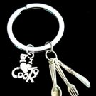 Chef Gift Cooking keychain,Chef Keychain I love to Cook Keychain,Cooking Jewelry