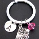 Personalize Teacher Keyhain Elementary School Teacher Gift, for School Counselor
