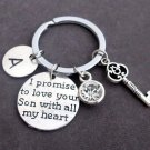 Personalized Mother of Groom KeyChain, Mother of Groom gift,Father of groom gift