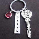 Personalized Valentine Gift, I'm fall in love with you KeyChain,Key to the heart