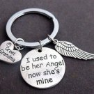 I used to be her angel now she's mine,Great Grandma,Grandma memorial keychain