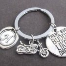 There is no BUDDY like a Brother, Brother KeyChain, Brother gift, Bike Keychain