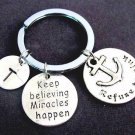Keep Believing Miracles Happen,Affirmation Keyring,Refuse to Sink,Miracle,Faith