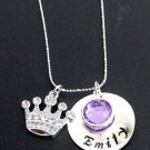 Princess Necklace Princess Crown Necklace Princess Name Necklace,girls jewelry
