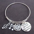 Where Words Fail Music Speaks,Music Bracelet,Music Gift,Music Lovers Jewelry