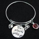 The Places You Will Go Graduation Bangle Bracelet,Graduate The Places You'll Go