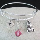 Teddy Bear Bangle Bracelet, Teddy Bear Expandable Bangle Bracelet, Cute Bracelet