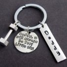 I'll always be your little girl Father's Key Chain,Personalized daddy's keychain