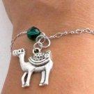 Camel silver pendant bangle bracelet Animal charm,Christmas gift, Animal Lover