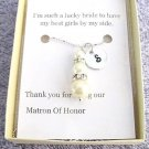 Pearsonalized Matron Of Honor Maid Of Honor Pearl Necklace Wedding Gift Necklace