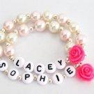 Girl and Doll Jewelry,Me & My Doll Name bracelet set,American Girl Bracelet