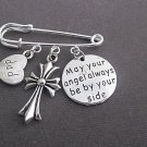 May your Angle always be by your side Kilt Pin,Cross Brooch Memorial Remembrance