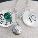 Soccer Necklace Personalized Soccer Jewelry Coach, Soccer Mom School Team gift