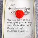 Christmas Gift Necklace Jewelry Gift Card Necklace Happy Holidays Gift Christmas