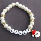 Personalized Christmas Santa Bracelet,Name Bracelet,Santa Charm Bracelet