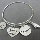 Teach Love Inspire Bracelet,Teacher Appreciation Gift,End of the year gift ideas