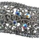 Sparkly Wave Shaped Clear Crystals Hair Barrette Very Affordablle