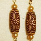 Brown Barrel Earrings