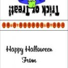 Sucker  Lollipop  Wrapper Halloween 06 ~ Set of 12