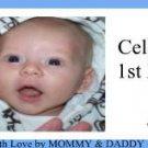 Water Bottle Wrapper 1st Birthday Boy ~ Set of 12