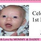 Water Bottle Wrapper 1st Birthday Girl ~ Set of 12