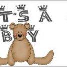 Water Bottle Wrapper Baby Boy Teddy ~ Set of 12