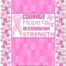 Courage Breast Cancer Candy Bar Wrapper