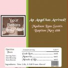 Baptism Candy Bar Wrapper 01 Girl