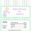 Birth Announcement & Shower Candy Bar Wrapper