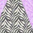 Pie Wedge 2 Piece Box Purple Black Zebra Print