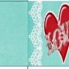 Cupcake Box Valentine's Day Aqua Love 01 ~ 1 Dozen