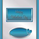 Valentine's Day Aqua & Silver Candy Bar Wrapper 14 ~ Set of 1 Dozen