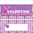 Valentine's Day Purple & Pink Candy Bar Wrapper 01 ~ Set of 1 Dozen