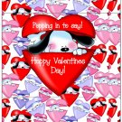 Valentine's Day Popcorn Wrapper Humor.... Poppin' In To Say Dog ~ 1 Dozen
