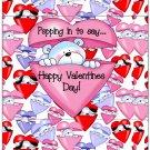 Valentine's Day Popcorn Wrapper Humor.... Poppin' In To Say Bear ~ 1 Dozen