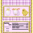 Easter Candy Bar Wrap ~   Purple Chicks Happy Easter