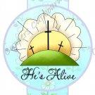 Easter Pencil or Straw Slider ~ Happy Easter He's Alive ~ 3 Dozen Set