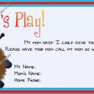 Mommy & Daddy Play Date Calling Cards ~ Warm Fuzzy Boy ~ Set of 30 Cards