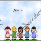 Mommy & Daddy Play Date Calling Cards ~ Kids with Picket Fence  ~ Set of 30 Cards