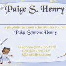 Mommy & Daddy Play Date Calling Cards ~ Princess  ~ Set of 30 Cards