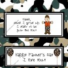 Father's Day Standard Candy Bar Wrapper ~ Camoflauge