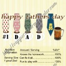 Father's Day Standard Candy Bar Wrapper ~ Ties