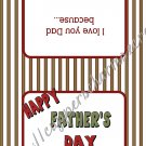 Father's Day Kiss & Treat Bag Toppers ~ Happy Father's Day