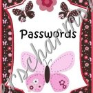 """Computer Password Book 5"""" X 7"""" Size  Butterfly Theme"""