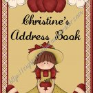 "Address Book 5"" X 7"" Size ~  Apple Theme"