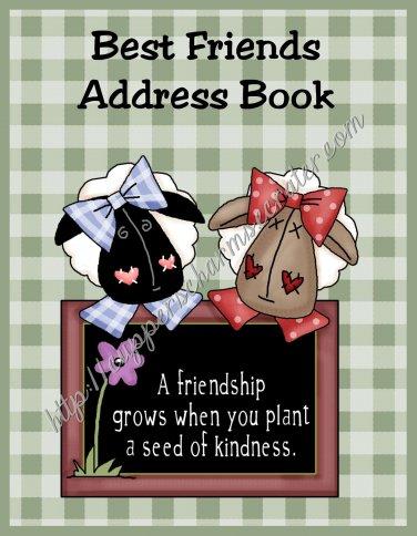 "Address Book 5"" X 7"" Size ~  Best Friends Theme"