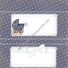 Gray Baby Buggy Candy Bar Wrapper