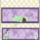 Purple & Yellow Giraffe A American Sleeping Baby Candy Bar Wrapper
